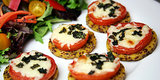 Cheesy Pizza Alternative: Tomato, Basil, and Mozzarella Quinoa Polenta