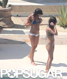 Lea Michele wore a bikini for a getaway in Cabo.