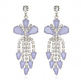 Tom Binns Lilac Crystal Chandelier Earrings