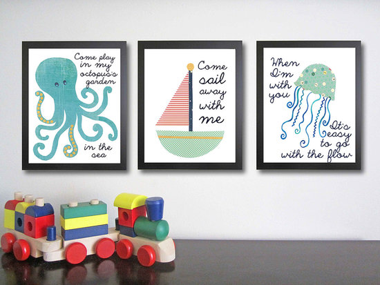 Snag this set of nautical art prints ($75) that come with playful Summer sayings.