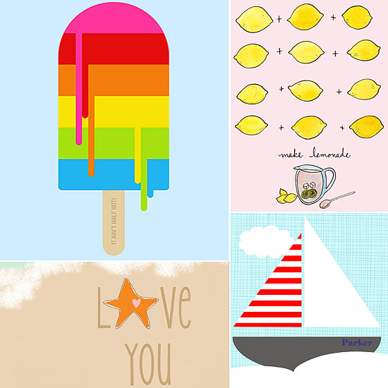 Sweet Summer Art Prints For Your Little One's Room
