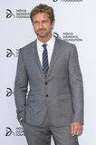 Gerard Butler also attended the gala dinner.