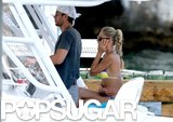 Anna Kournikova and Enrique Iglesias set sail on their boat near their home in Miami.
