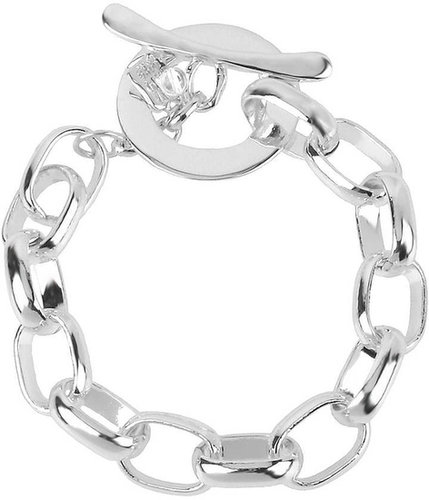 ROBERT LEE MORRIS Silver-Plated Toggle Bracelet