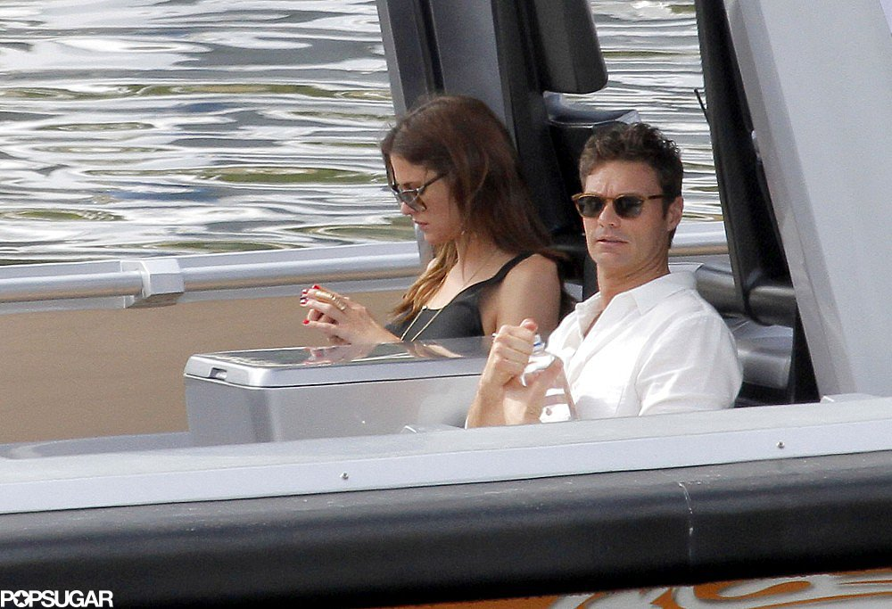 Ryan Seacrest Goes Shirtless For a Flirty Yacht Trip With His New Lady