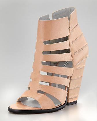 Camilla Skovgaard Cage-Line Cuban-Heel Sandal, Fawn