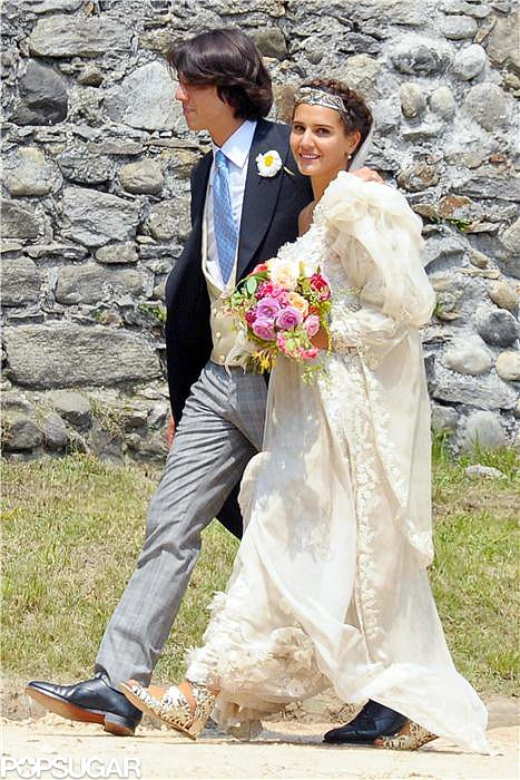 Margherita Missoni wore custom Missoni when she married Eugenio Amos in Brunello, Italy, in June 2012.