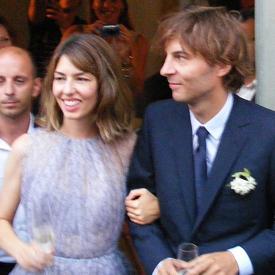 In Bernalda, Italy, Sofia Coppola married Thomas Mars wearing a pretty pastel Azzedine Alaïa dress August 2011.