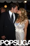 Nick Lachey and Jessica Simpson shared a kiss during the May 2001 Kentucky Derby party.