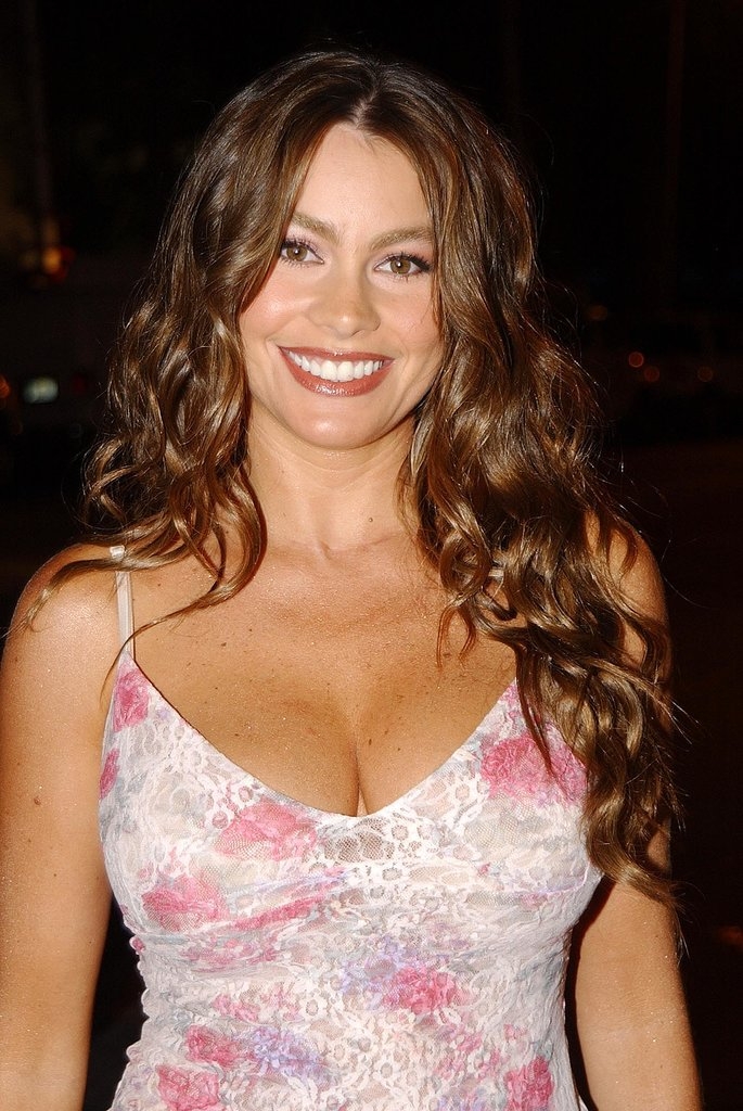 Curly brunette hair and a dazzling smile were Sofia's look at the 2002 Latinoamérica MTV Video Music Awards.