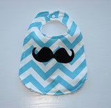 Maine Girl Creations Chevron Baby Bib