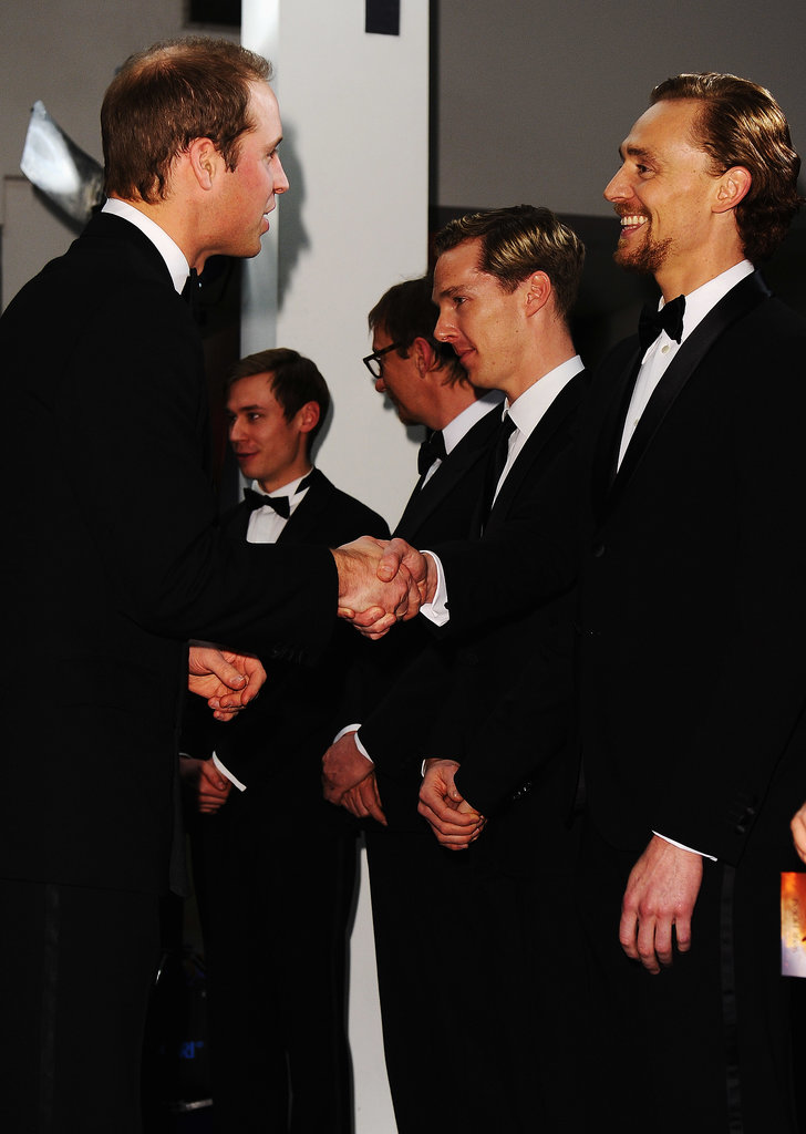 Prince William met Tom Hiddleston at the UK premiere of War Horse in January 2012.