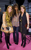 Princess Eugenie and Princess Beatrice posed with Naomi Campbell at London Fashion Week in September 2008.