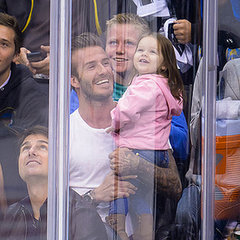 Harper Beckham Cute Pictures With David and Victoria