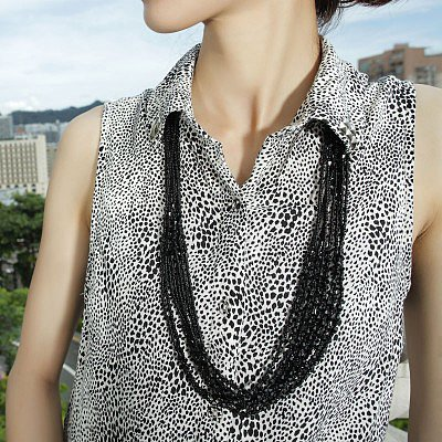 # Multi Strand Seed Bead Necklace