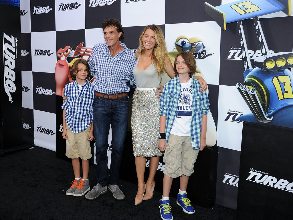 Blake Lively showed her support for husband Ryan Reynolds on the black carpet of his NYC Turbo premiere with her brother Jason Lively and his family.