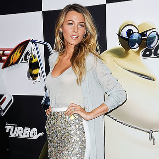 Blake Lively Turbo Premiere Burberry Dress