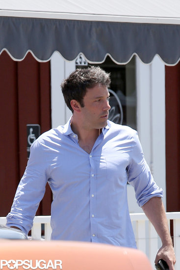 Ben Affleck left lunch in LA.