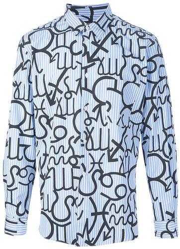 Comme Des Garçons zodiac print shirt