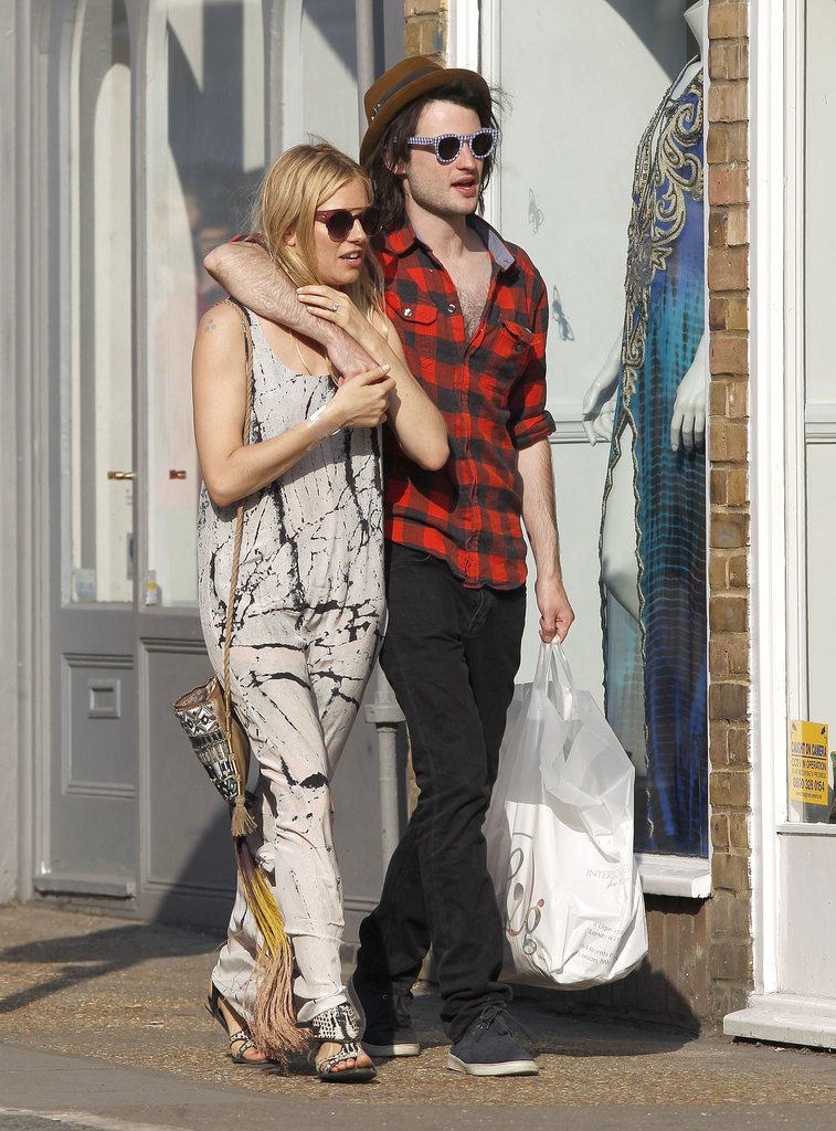 Sienna Miller and Tom Sturridge walked around London.