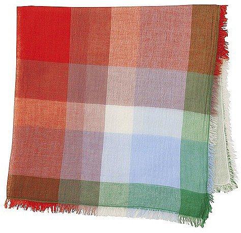 WOMEN Square Cotton Linen Stole(Madras)