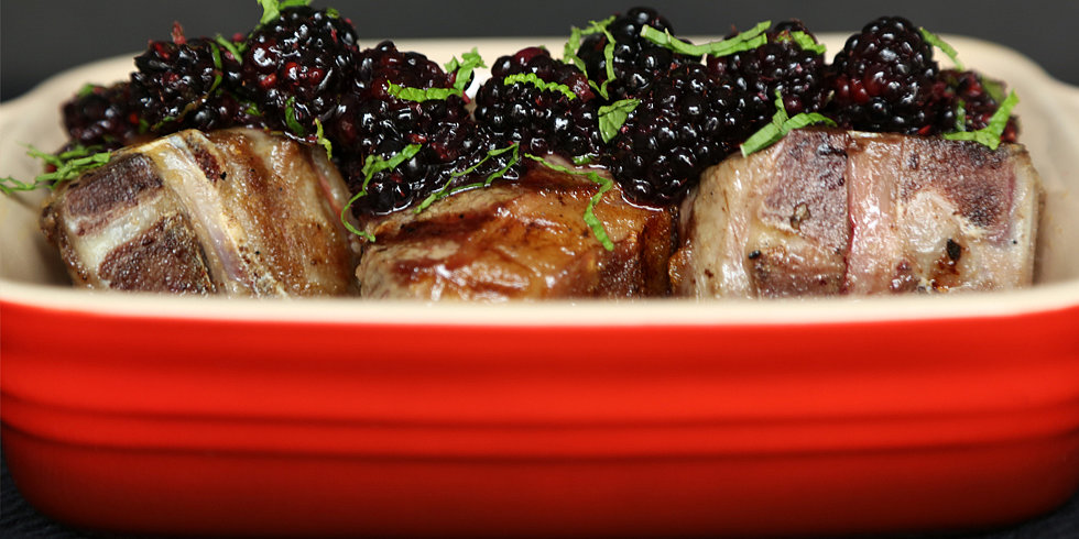 Relish This: Grilled Lamb Loin Chops With Blackberry Sauce