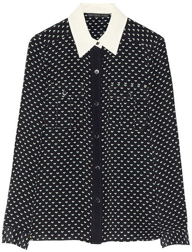 Marc by Marc Jacobs Vivie printed silk shirt