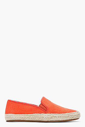 BELLE SIGERSON MORRISON Orange Casual Canvas espadrilles