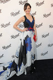 Carolina Herrera's printed gown looked lovely on Emmy Rossum at the New York Persol Magnificent Obsessions event.