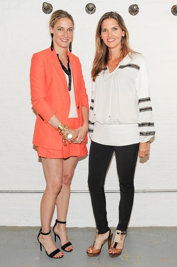 Veronica Beard's design duo Veronica Swanson Beard and Veronica Miele Beard arrived at Rag & Bone's New York studio in relaxed ensembles for the CFDA/Vogue Fashion Fund event.