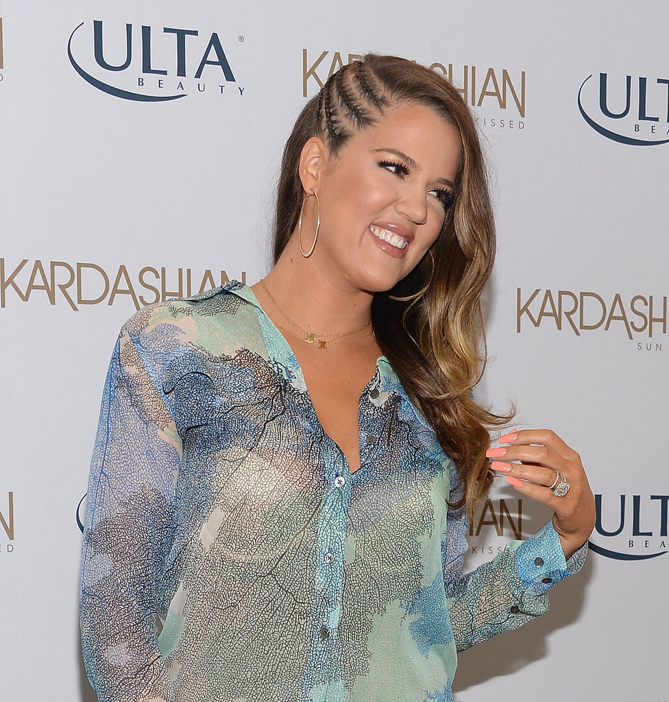 Khloé Kardashian has also tried out the faux-undercut trend, wearing a trio of braids offset by smooth waves.