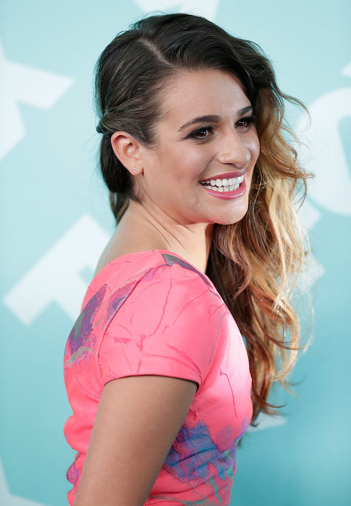 Transform your beach waves for a night out with a simple twist behind the ear as seen on Lea Michele.