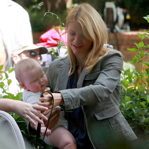 Claire Danes and Baby Cyrus on the Set of Homeland Pictures