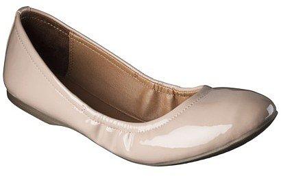 Women's Mossimo Supply Co. Ona Side Scrunch Ballet Flat - Fawn