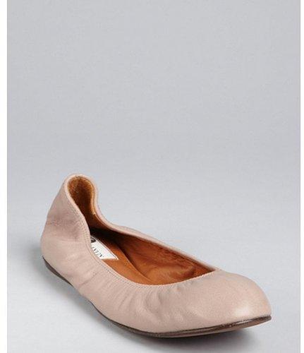 Lanvin beige leather ballet flats