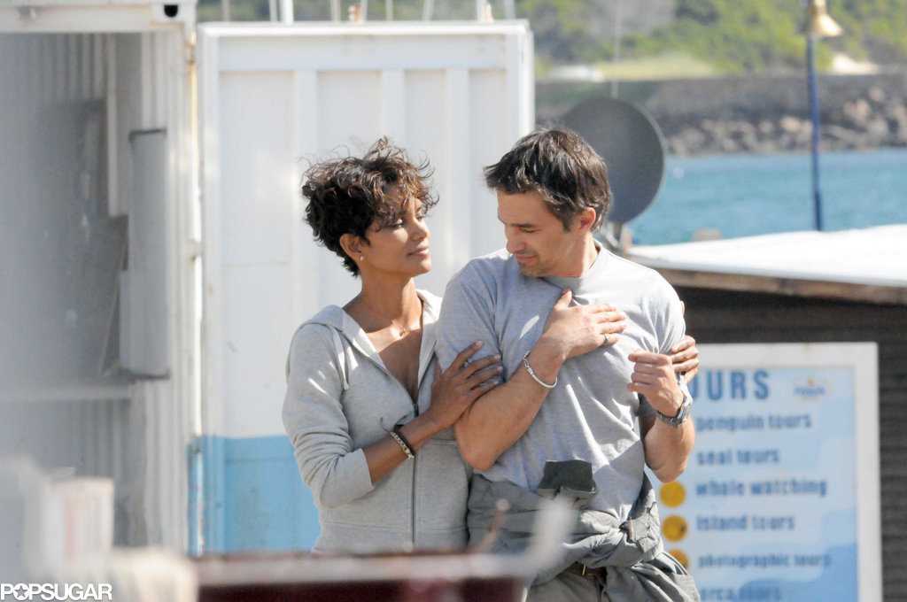Halle Berry and Olivier Martinez showed more love on the Dark Tide set in 2010.
