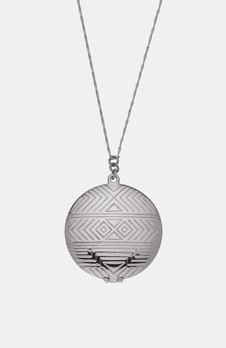 House of Harlow 1960 Medallion Locket Pendant Necklace