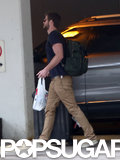 Liam Hemsworth headed to a hotel in Alberta, Canada.