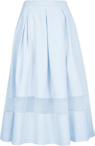 Tall Organza Midi Skirt