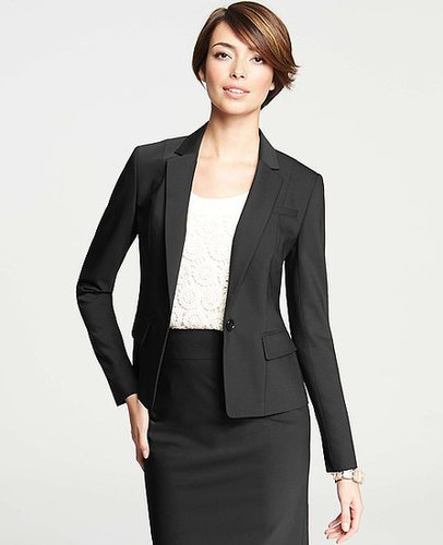 Tropical Wool One-Button Jacket
