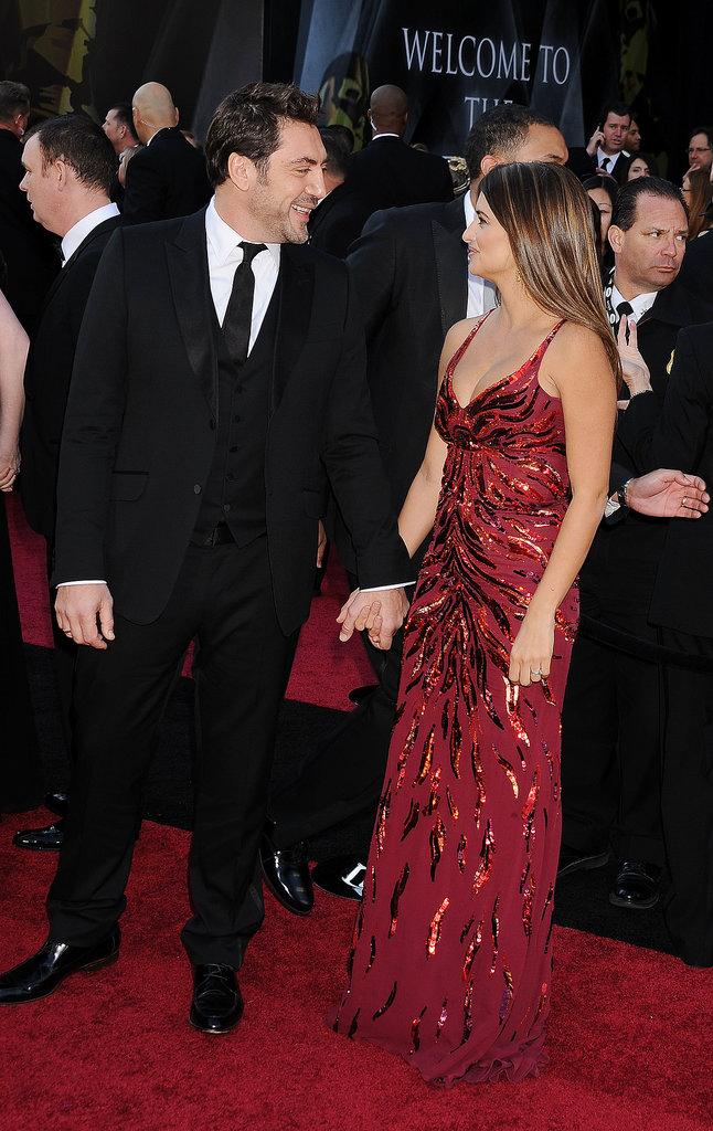 Penélope Cruz and Javier Bardem held hands at the Oscars in February 2011 in LA.
