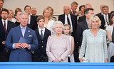 Queen Elizabeth II sat beside Prince Charles and Camilla, Duchess of Cornwall, during the Coronation Festival Evening Gala.