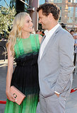 Joshua Jackson gave Diane Kruger a grin at the premiere of The Bridge in July 2013.
