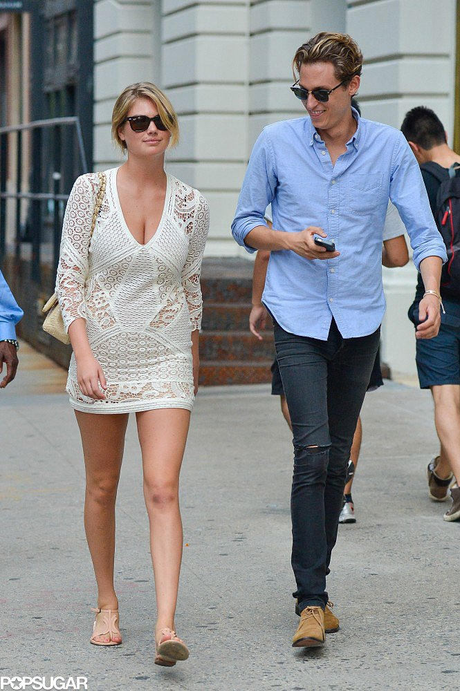 Kate Upton put her sexy Summer style on display in a crochet minidress in NYC.