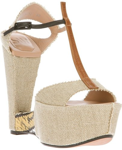Sw1 sculpted wedge sandal