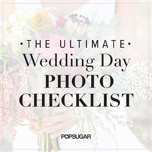 Wedding Day Photo List
