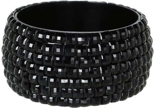 M&F Western - Square Crystal Bangle (Black) - Jewelry
