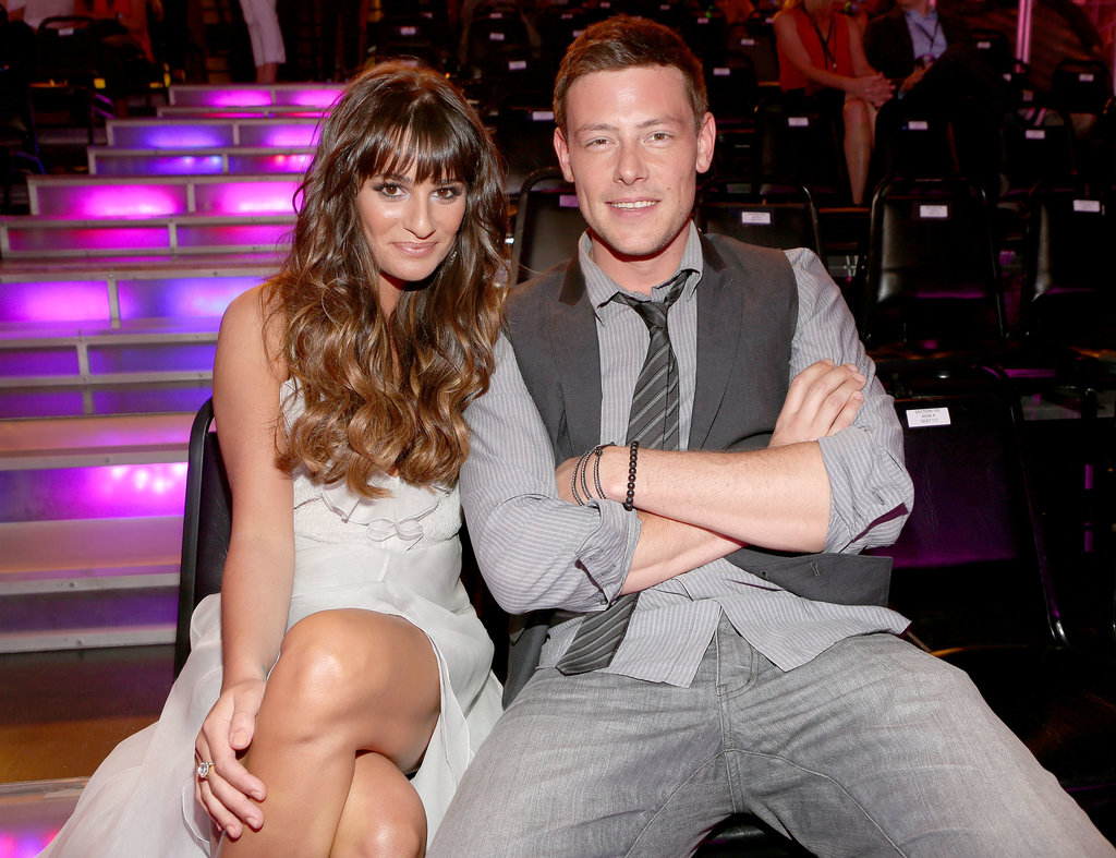 Cory Monteith and Lea Michele sat together in the audience