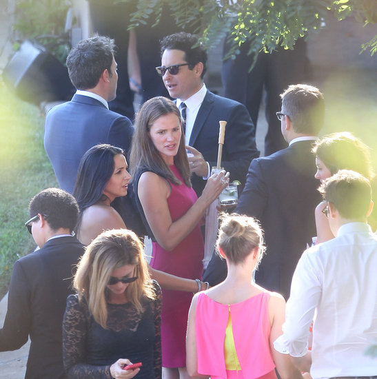 Jennifer Garner chatted with Matt Damon and his wife, Luciana, while Ben Affleck had a conversation with J.J. Abrams.