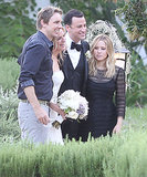 Kristen Bell and Dax Shepard posed for photos with Jimmy Kimmel and his bride.